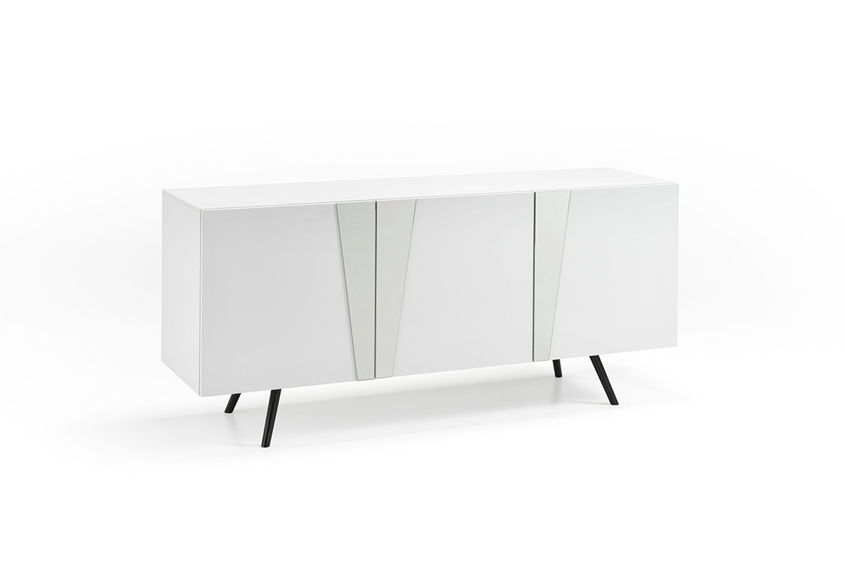 GINGER White Sideboard with Mirror Insert-0