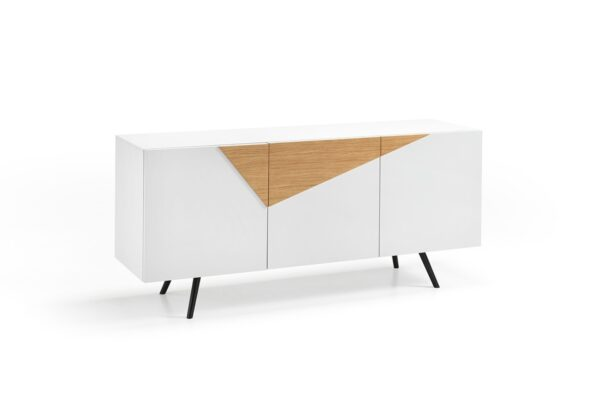 GINGER White Sideboard with Oak Inserts-0