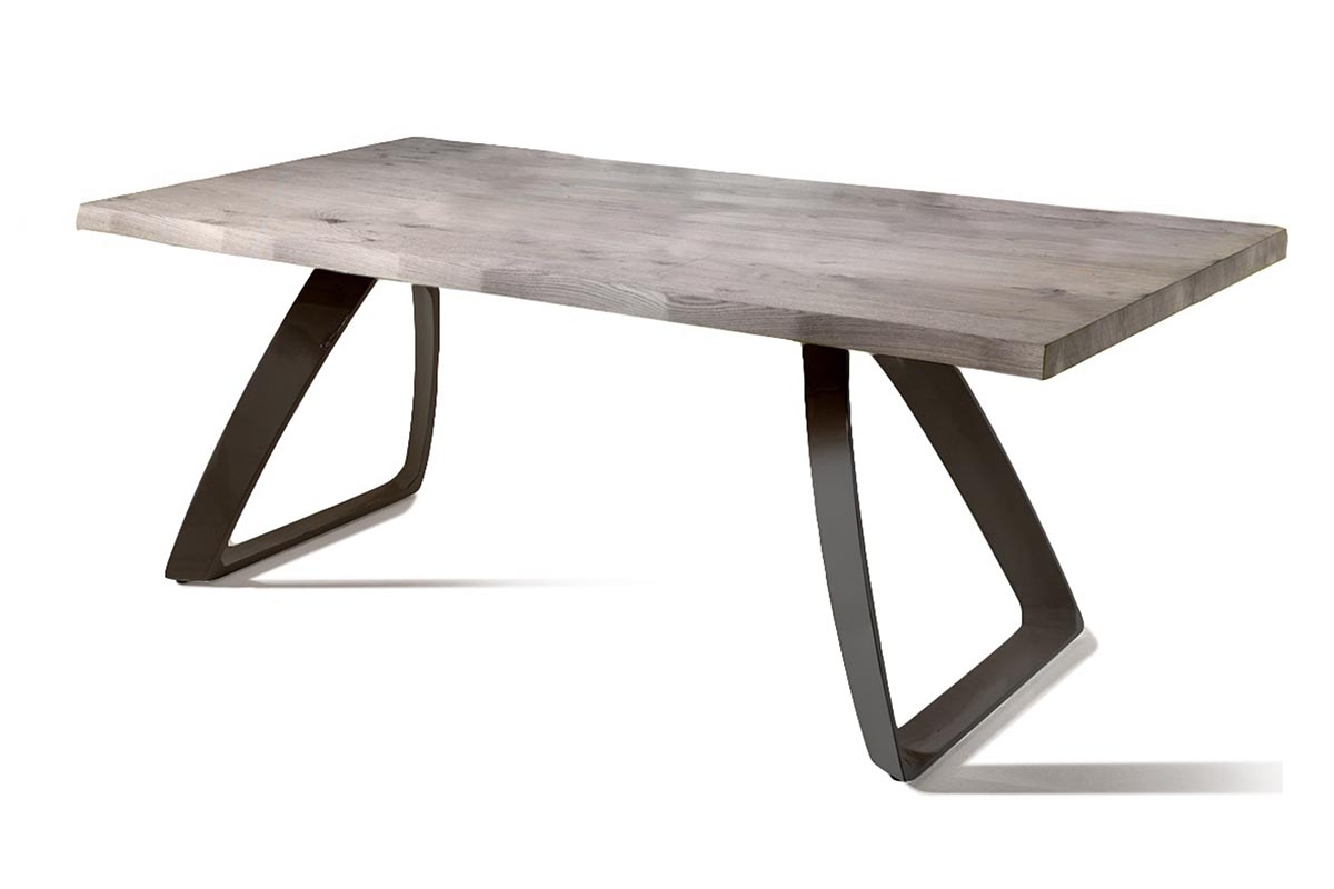 BRIDGE Gray Ash Table with Black Legs (Small)-0