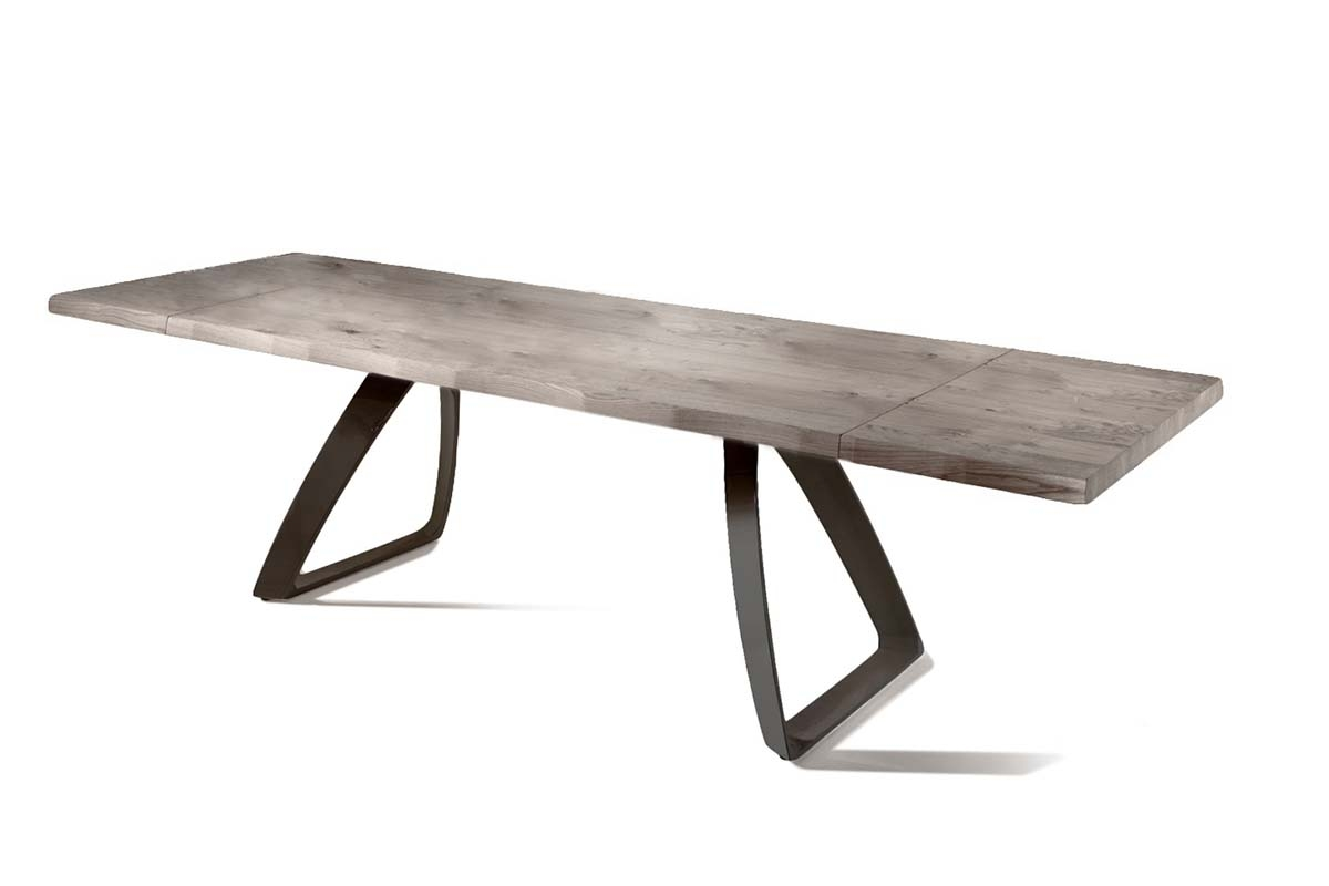 BRIDGE Gray Ash Table with Black Legs-0