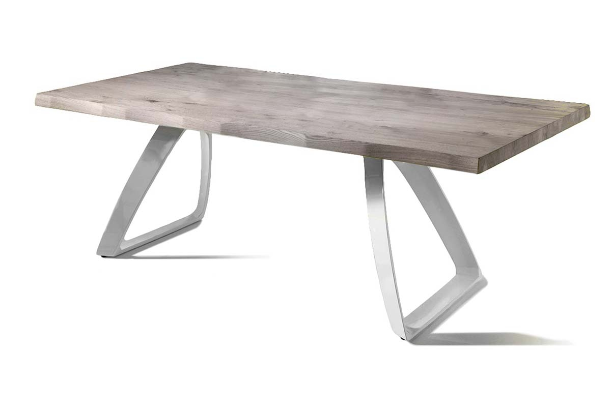 BRIDGE Fixed Dining Table White Legs (Small)-0