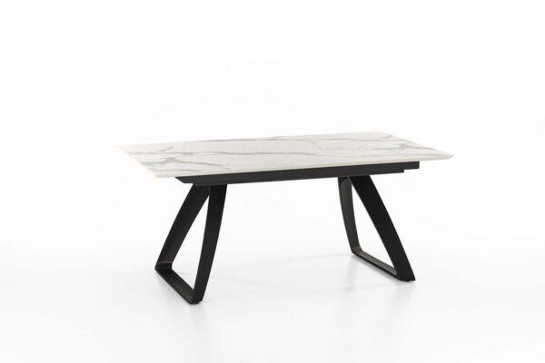 BARRET Marble Extendable Table Black Legs-0
