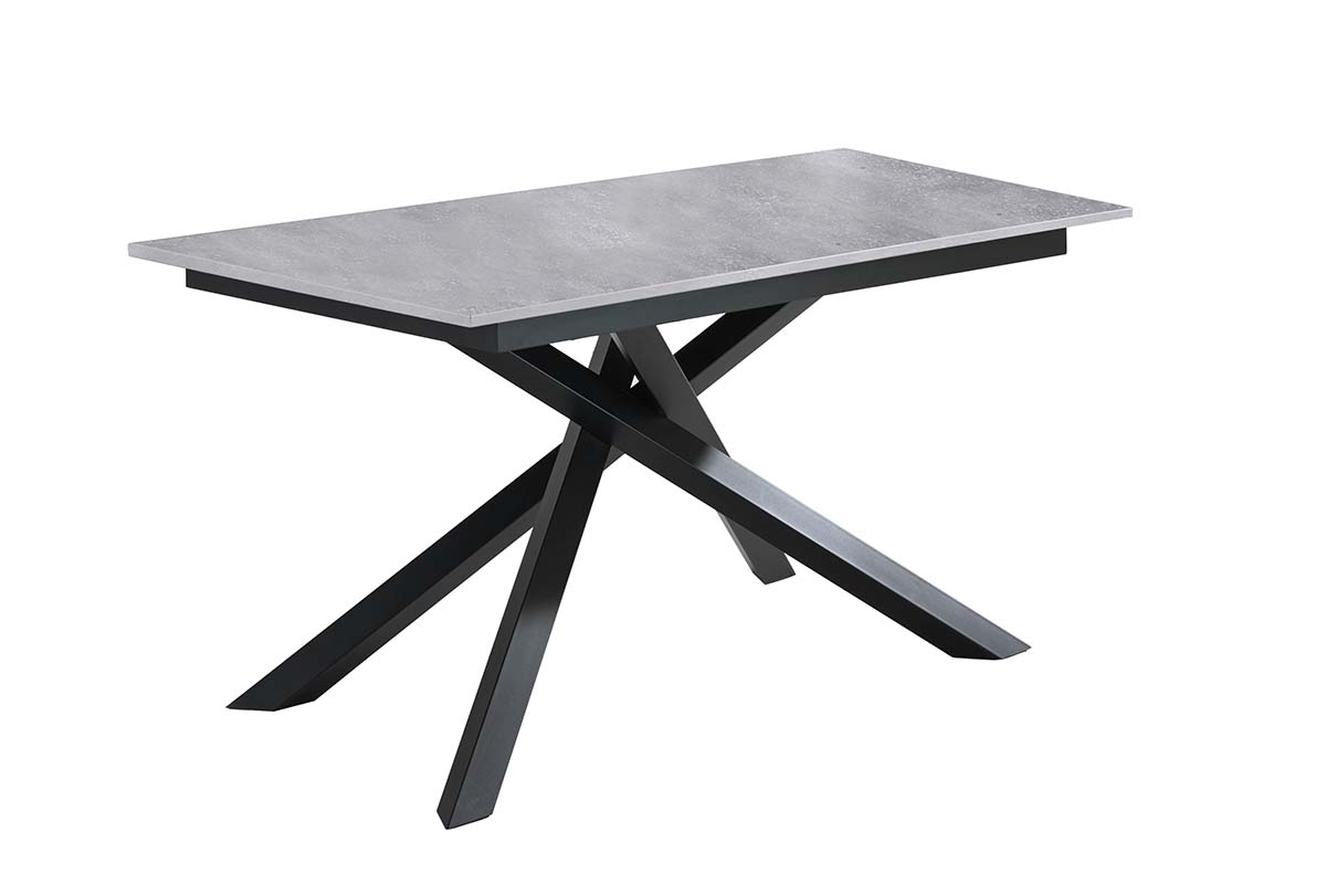 PULSE Light Gray Extendable Table Black Legs-0