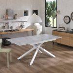 PULSE Light Gray Extendable Table Black Legs-2955